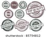 grunge stamp 100  premium... | Shutterstock .eps vector #85754812