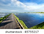 top view of solar plant station.... | Shutterstock . vector #85755217
