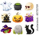 halloween icon set | Shutterstock .eps vector #85755709