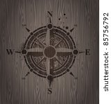 Vector Compass Rose Painting O...