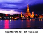 twilight view of wat arun... | Shutterstock . vector #85758130