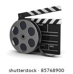 3d illustration of cinema clap... | Shutterstock . vector #85768900