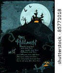 halloween vector series.... | Shutterstock .eps vector #85771018