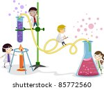 illustration of kids playing in ... | Shutterstock .eps vector #85772560