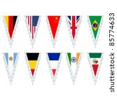 stylized country flags ... | Shutterstock .eps vector #85774633