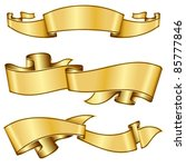 gold ribbon collection | Shutterstock .eps vector #85777846
