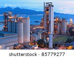 cement factory at night | Shutterstock . vector #85779277