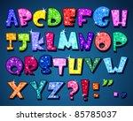 sparkling alphabet | Shutterstock .eps vector #85785037
