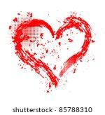 heart grunge design
