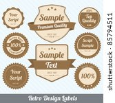 retro design labels | Shutterstock .eps vector #85794511