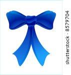 blue bow | Shutterstock .eps vector #8579704