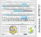 web site template navigation...   Shutterstock .eps vector #85798717