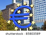 the european central bank  ecb  ... | Shutterstock . vector #85803589