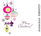 retro christmas ornaments | Shutterstock .eps vector #85804519
