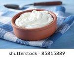 Greek yogurt in a pot
