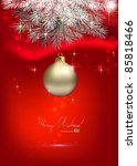 red christmas background with... | Shutterstock .eps vector #85818466
