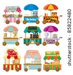 cartoon market store car icon...   Shutterstock .eps vector #85822480