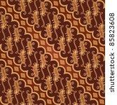 seamless javanese batik pattern | Shutterstock .eps vector #85823608