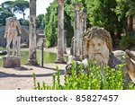 villa adriana in tivoli   italy.... | Shutterstock . vector #85827457