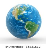 earth globe. this is a 3d... | Shutterstock . vector #85831612
