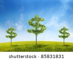 money tree investment growth... | Shutterstock . vector #85831831