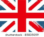 grunge english flag | Shutterstock .eps vector #85835059