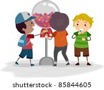 illustration of kids using a... | Shutterstock .eps vector #85844605