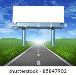 blank  highway billboard sign... | Shutterstock . vector #85847902