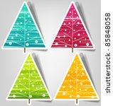 set of vector stickers.... | Shutterstock .eps vector #85848058