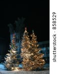 three christmas tree outside | Shutterstock . vector #858529
