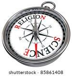 Science Versus Religion Concept ...