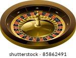 vector illustration of roulette ... | Shutterstock .eps vector #85862491