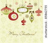 retro christmas ornaments   Shutterstock . vector #85862755