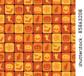 Seamless Orange Halloween...