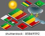 isometric representation of... | Shutterstock .eps vector #85869592