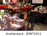 dining table in a restaurant. | Shutterstock . vector #85871911