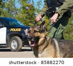 Police Dog With K 9 Unit...