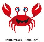 red crab cartoon isolated over... | Shutterstock .eps vector #85883524