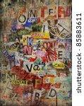 grunge textured background... | Shutterstock . vector #85883611