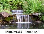 Two Small Waterfalls Flowing...
