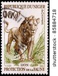 niger   circa 1959  a 100 franc ... | Shutterstock . vector #85884718