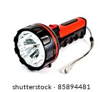 a red modern torch on white... | Shutterstock . vector #85894481