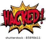 hacked | Shutterstock .eps vector #85898611