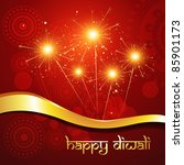 beautiful hindu diwali festival ... | Shutterstock .eps vector #85901173