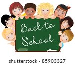 background with children | Shutterstock . vector #85903327