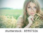 Romantic Young Woman Posing...