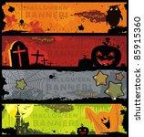 set horizontal halloween... | Shutterstock .eps vector #85915360