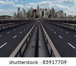 highway section gate for the city - stock photo