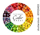fruit and vegetable color wheel ... | Shutterstock . vector #85920403