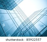blue silhouettes of high rise... | Shutterstock . vector #85922557